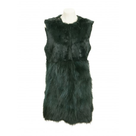 CHALECO LARGO 7977 RABBIT-RACCOON VERDE